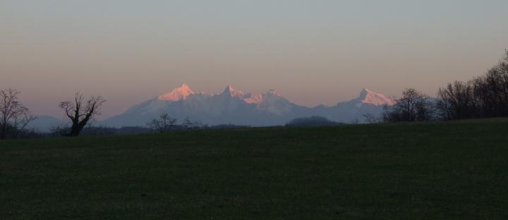 tramonto Apuane da Mulazzo